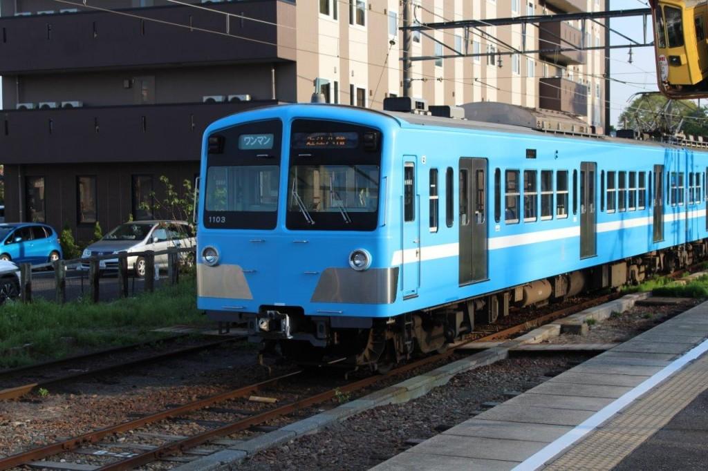 近江鉄道で西武線発見!駅員さんにお聞きしたら近江鉄道は西武鉄道の関連会社との事。なるほどね。
