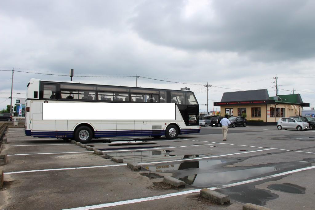 バス・ツァーでは無く、運転手さんがご利用中です。