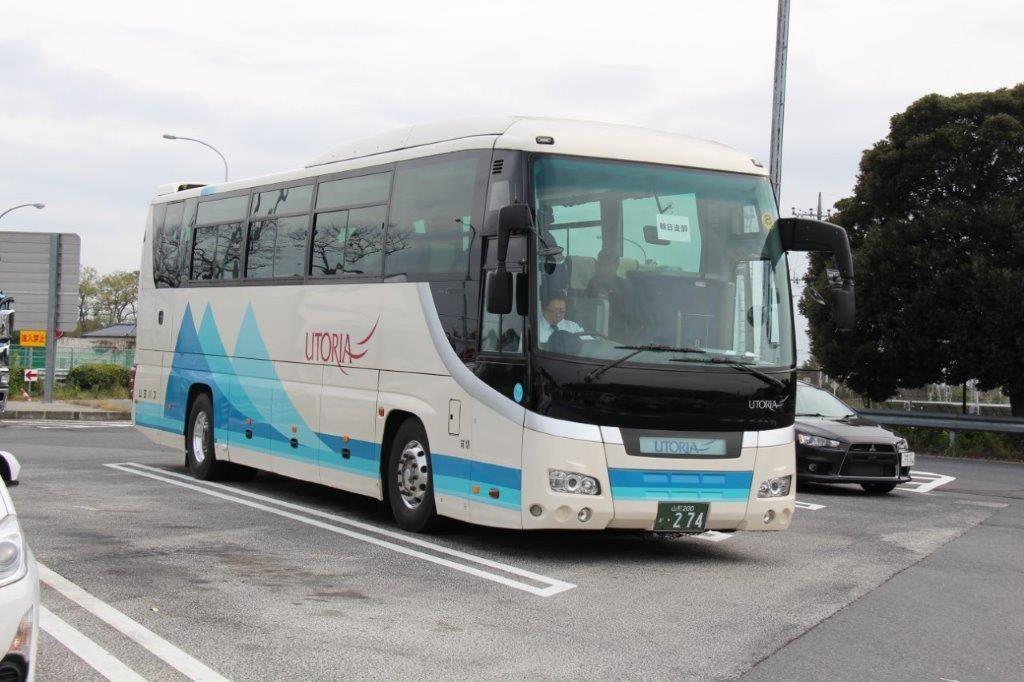羽生PAにて山交のバス。